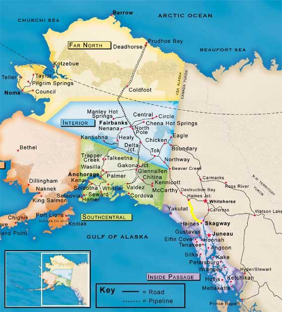 Haines Alaska Map Map Courtesy of Travel Alaska